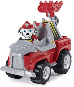 Paw Patrol Figur Med Fordon Marshall Dino Deluxe