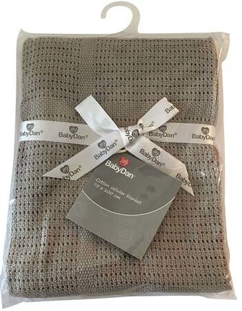 BabyDan Cotton Blanket Grey