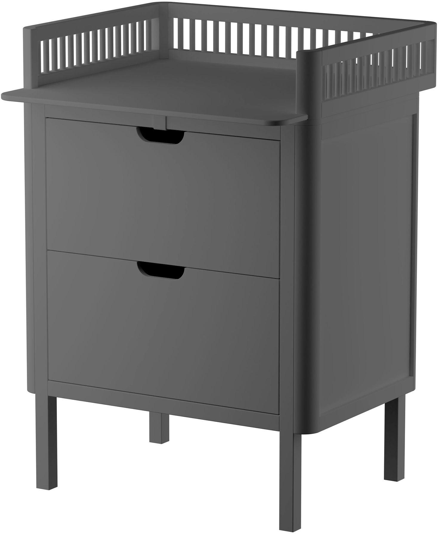 Sebra Skötbord med Lådor, Classic Grey