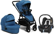 Petite Chérie Heritage 2 Duovagn inkl. Maxi-Cosi CabrioFix, Blue Ashes/Black