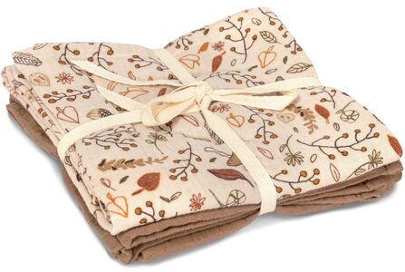That's Mine Muslinfilt 2-pack, Autumn Flower/Brown