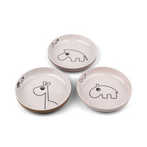 Done By Deer Tallrik Mini Deer Friends 3-pack, Powder