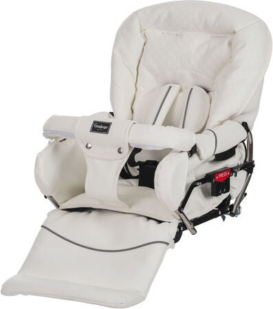 Emmaljunga Mondial Duo de Luxe Duovagn 2021 inkl. Cabriofix Babyskydd, Leatherette White