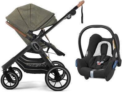 Emmaljunga NXT90 2-in-1 Duovagn 2021 inkl. Maxi-Cosi CabrioFix, Outdoor Olive