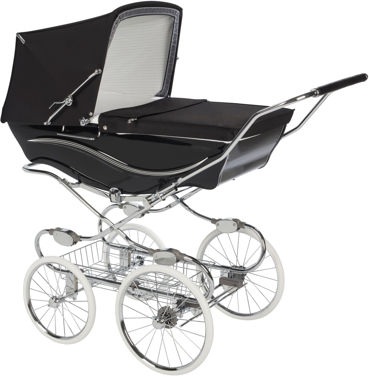 Silver Cross Kensington Liggvagn, Chrome Black/Black