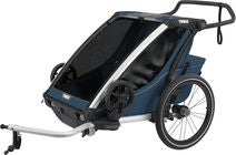 Thule Chariot Cross 2 Cykelvagn, Majolica Blue