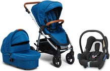 Petite Chérie Heritage 2 Duovagn inkl. Maxi-Cosi CabrioFix, Blue Ashes/Silver