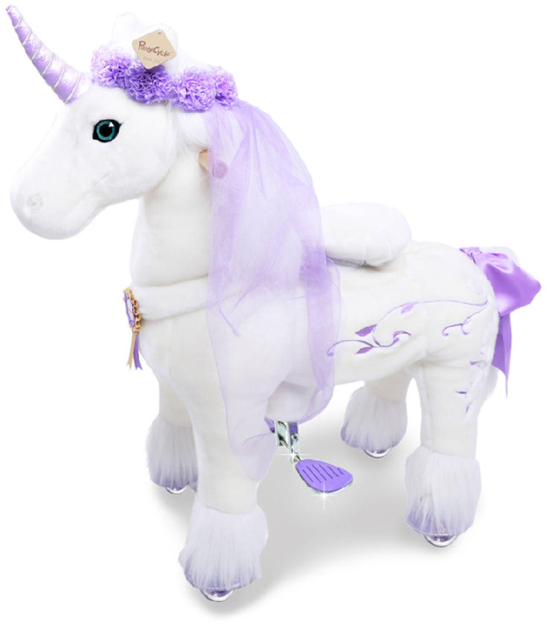 PonyCycle Ride-On Häst Premium Stor, Vit