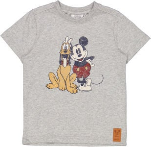 Wheat Musse Pigg & Pluto T-Shirt, Melange Grey