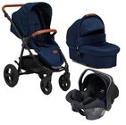 Petite Chérie Heritage 2020 Duovagn Inkl. Axkid Modukid Babyskydd, Navy/ Black