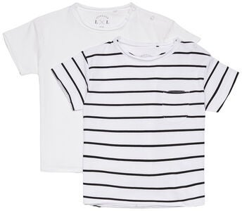 Luca & Lola Ettore T-Shirt 2-pack, White/Stripes