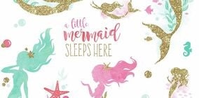RoomMates Wallstickers Little Mermaid