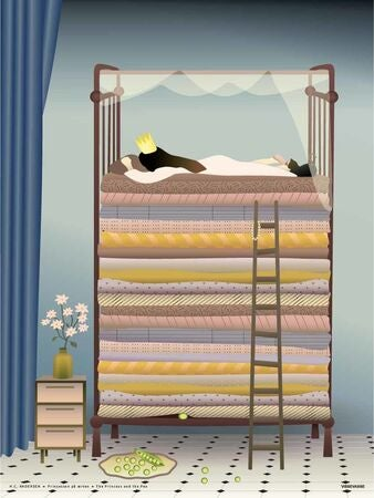 ViSSEVASSE Poster The princess and the pea 30x40