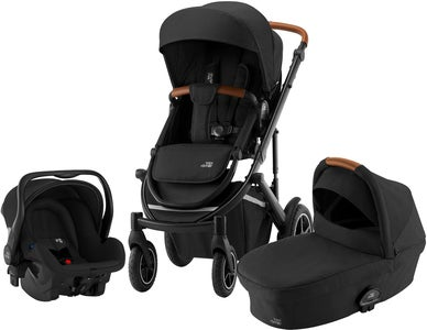 Britax Smile III Duovagn Inkl Primo Babyskydd, Space Black