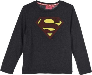 Superman Långärmad T-Shirt, Dark Grey