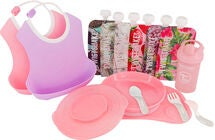Twistshake Tableware Kit, Pink/Purple/White