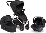 Petite Chérie Heritage 2 Duovagn Inkl. Axkid Modukid Babyskydd, Black/Silver