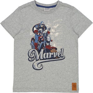 Wheat Captain America T-Shirt, Melange Grey