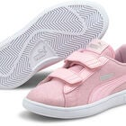 Puma Smash V2 Glitz Glam V PS Sneaker, Pink Lady