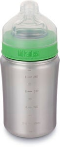 Klean Kanteen Vattenflaska Medium Flow Nipple 266ml, Brushed Stainless