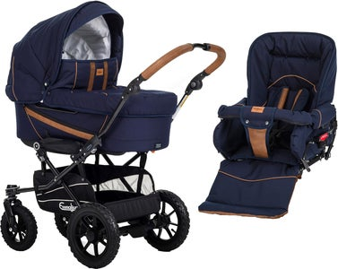Emmaljunga Edge Duo S Duovagn, Outdoor Offroad/Outdoor Navy