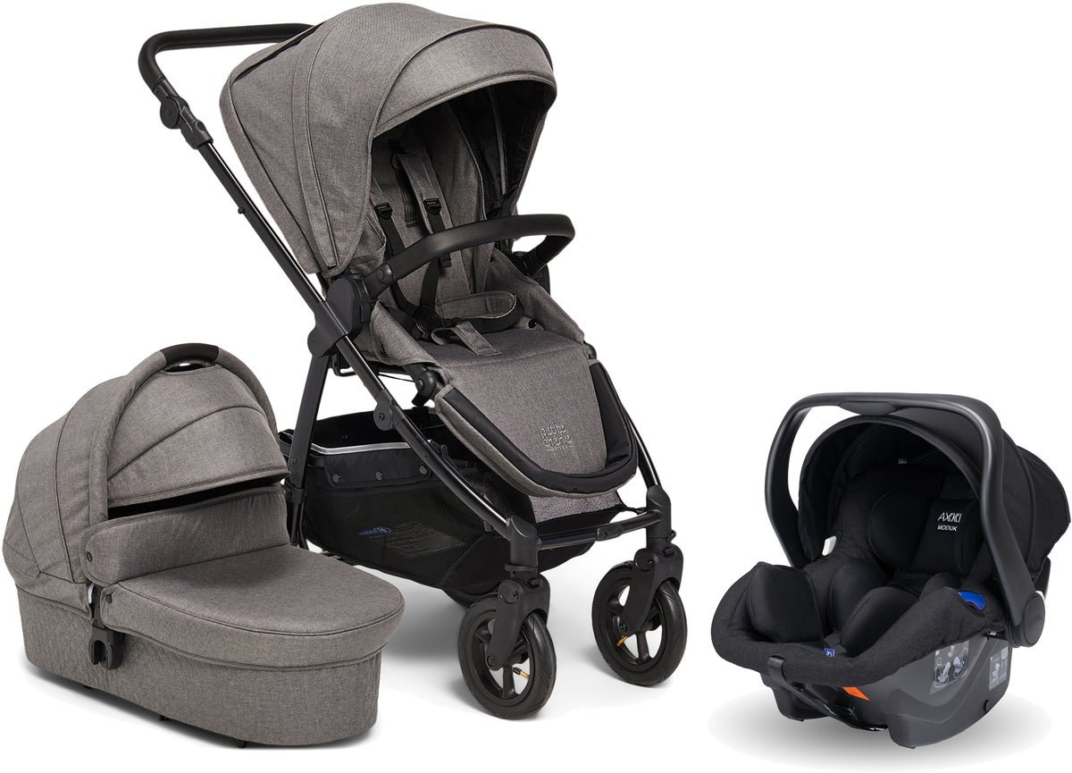 Petite Chérie Heritage 2 Duovagn Inkl. Axkid Modukid Babyskydd, Grey/Black