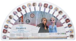 Disney Frozen 2 Färgpennor med Suddgummi 20-pack