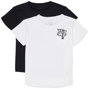 Luca & Lola Ettore T-Shirt 2-pack, White/Black