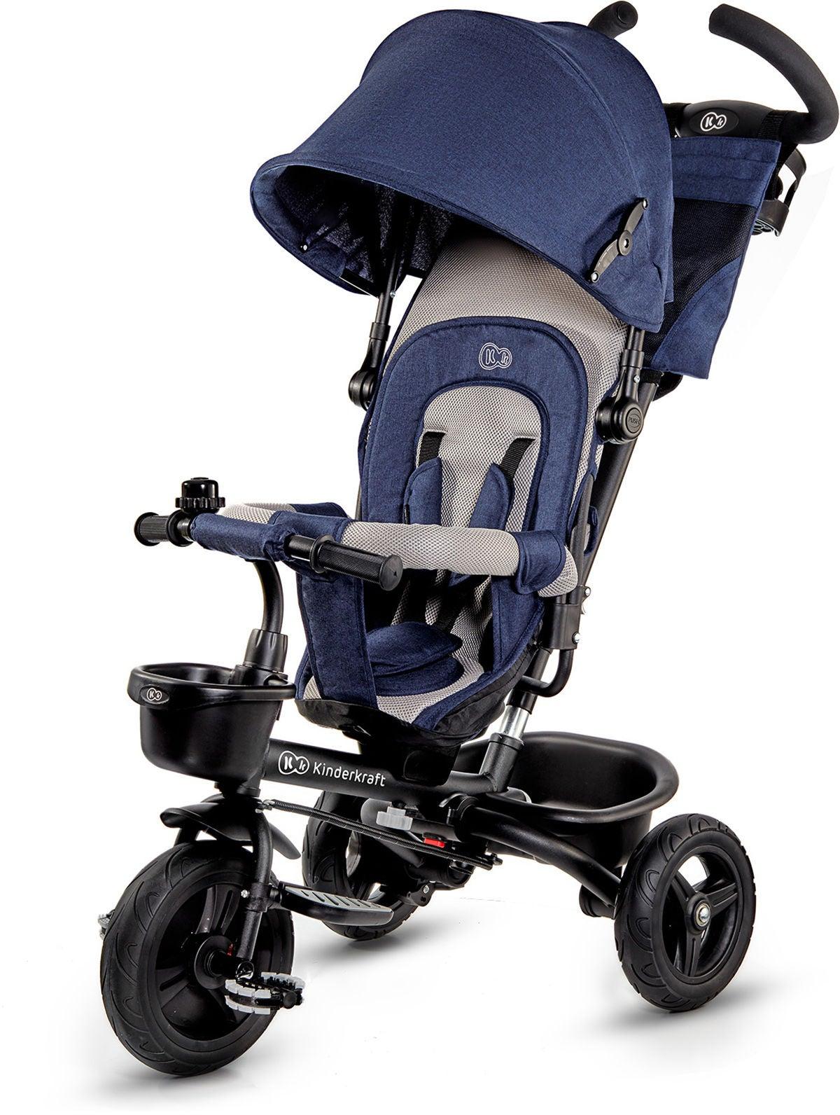 Kinderkraft Trehjuling AVEO, Blå