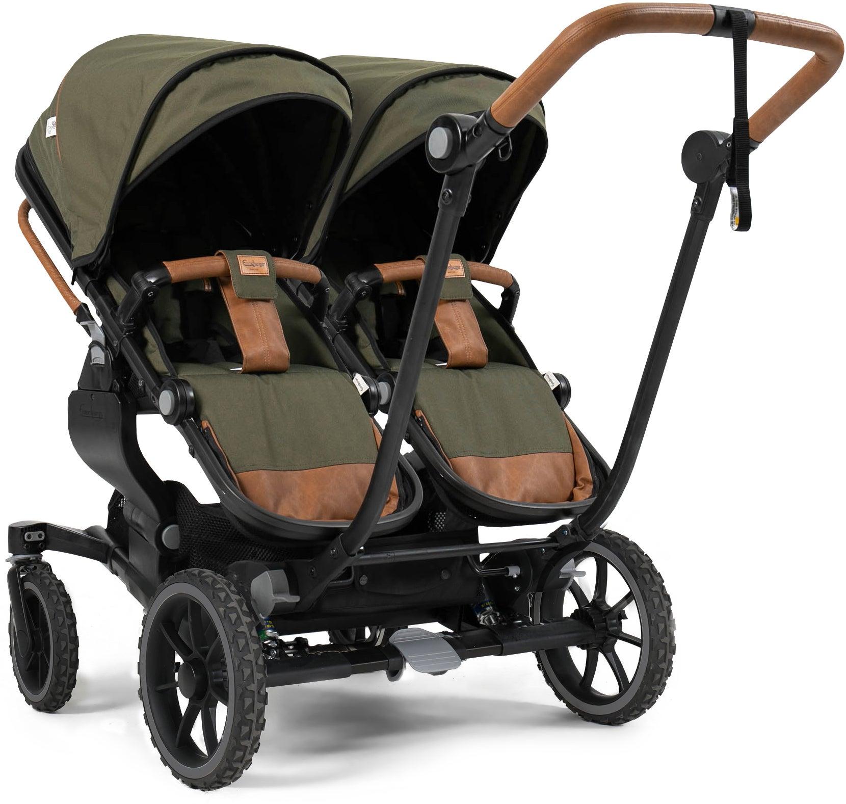 Emmaljunga NXT Twin ERGO Tvillingvagn 2021, Outdoor Olive