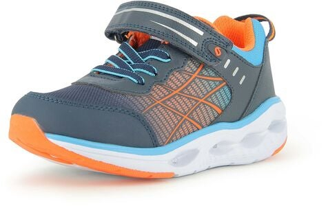 Leaf Samset Blinkande Sneaker, Navy/Orange