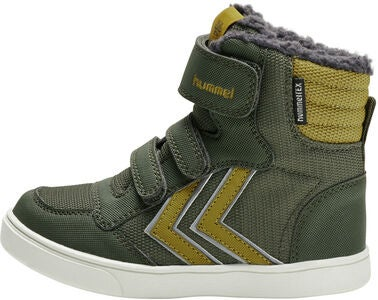 Hummel Stadil Super Poly Mid Jr Sneaker, Olive Night