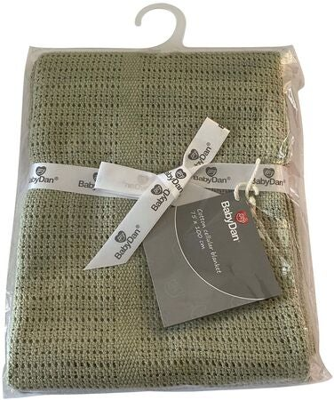 BabyDan Cotton Blanket Dusty Green