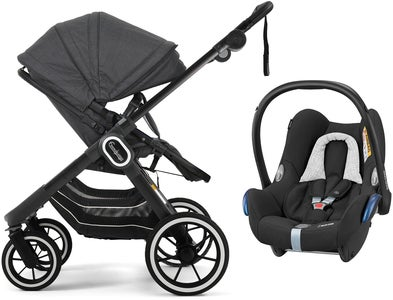 Emmaljunga NXT90 2-in-1 Duovagn 2021 inkl. Maxi-Cosi CabrioFix, Lounge Black