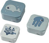 Done by Deer Snackbox 3-Pack Sea Friends, Blue