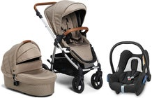 Petite Chérie Heritage 2 Duovagn inkl. Maxi-Cosi CabrioFix, Desert Taupe/Silver