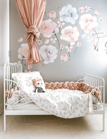 Schmooks Wallsticker Bows and Roses, Pink