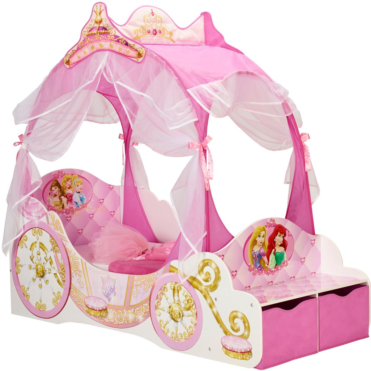 Disney Princess Juniorsäng med Förvaring 70x140