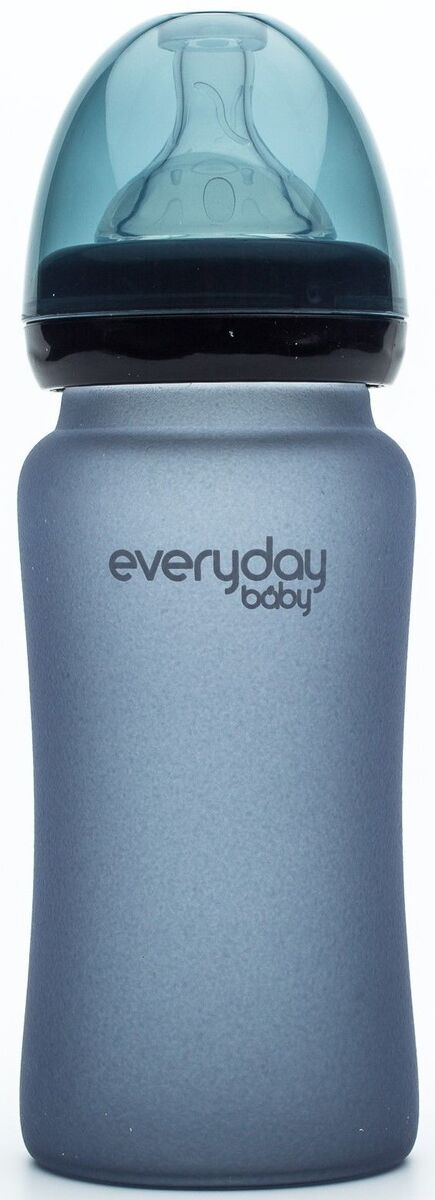 Everyday Baby Nappflaska Glas med Värmeindikator 240ml, Blueberry