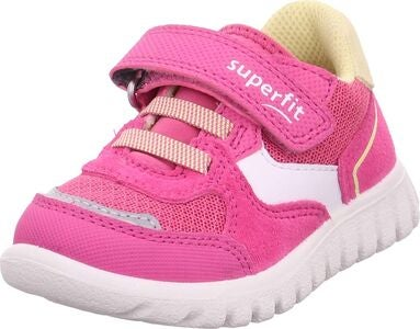 Superfit Sport7 Mini Sneaker, Pink/Yellow