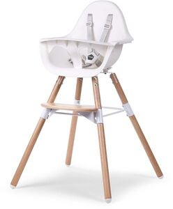 Childhome Evolu 2 Matstol 2-i-1 med Bygel, Natural White