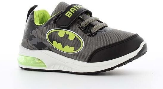 Batman Blinkande Sneaker, Grey/Neon Yellow