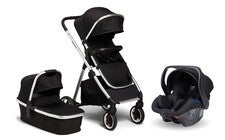 Beemoo Pro Duo Duovagn Inkl. Axkid Modukid Infant Babyskydd, Black