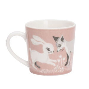 Littlephant Liten Porslinmugg Fairytale Fox, Puderrosa