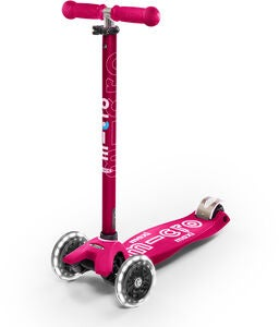Micro Sparkcykel Trehjuling Maxi Deluxe LED, Rosa