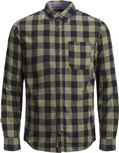 PRODUKT Graham Check Skjorta, Dusty Olive