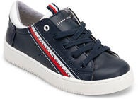 Tommy Hilfiger Low Cut Lace Sneaker, Blue/White