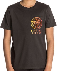 Rip Curl Multi Art SS Tee T-shirt, Pirate Black