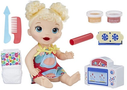 Baby Alive Snackin Baby Docka Blond