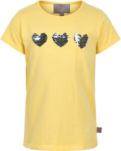 Creamie Hearts Sequin T-Shirt, French Vanilla